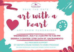 Art with a Heart save the date July 12