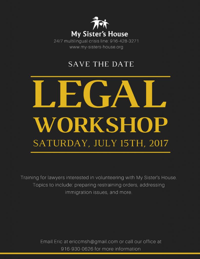 Legal workshop on July 15